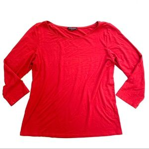 🌸🌵🌼Eileen Fisher | Red 3/4 Sleeve Blouse S